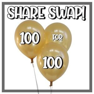 OPEN!  Let's share 100 for 100!